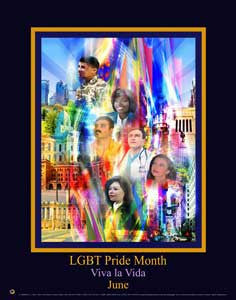 Item# GL1724x36 Custom Made (24x36 inches $49.95) 2017 LGBT Pride Month - Viva La Vida