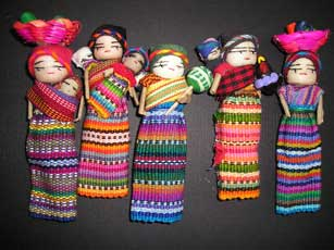 Item# HC12 Guatemala Assorted Magnet Dolls - OM