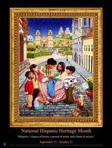 "Large 24x36"" Custom Made National Hispanic Heritage Month Poster 2014  (OM) -  DiversityStore.Com®"