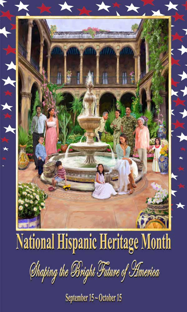 Item# H173X5  Hispanic Heritage Month Custom Made Banner Large 3 By 5 Feet ...OM