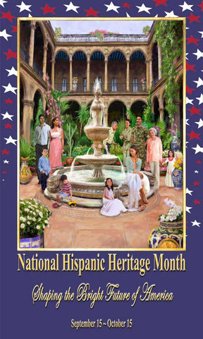 Item# H173X5  Hispanic Heritage Month Custom Made Banner Large 3 By 5 Feet ...OM -  DiversityStore.Com®