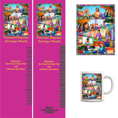 Item# H20K H20 Magnets, Mugs, Key Chains,Buttons & Bookmarks - OM -  DiversityStore.Com®