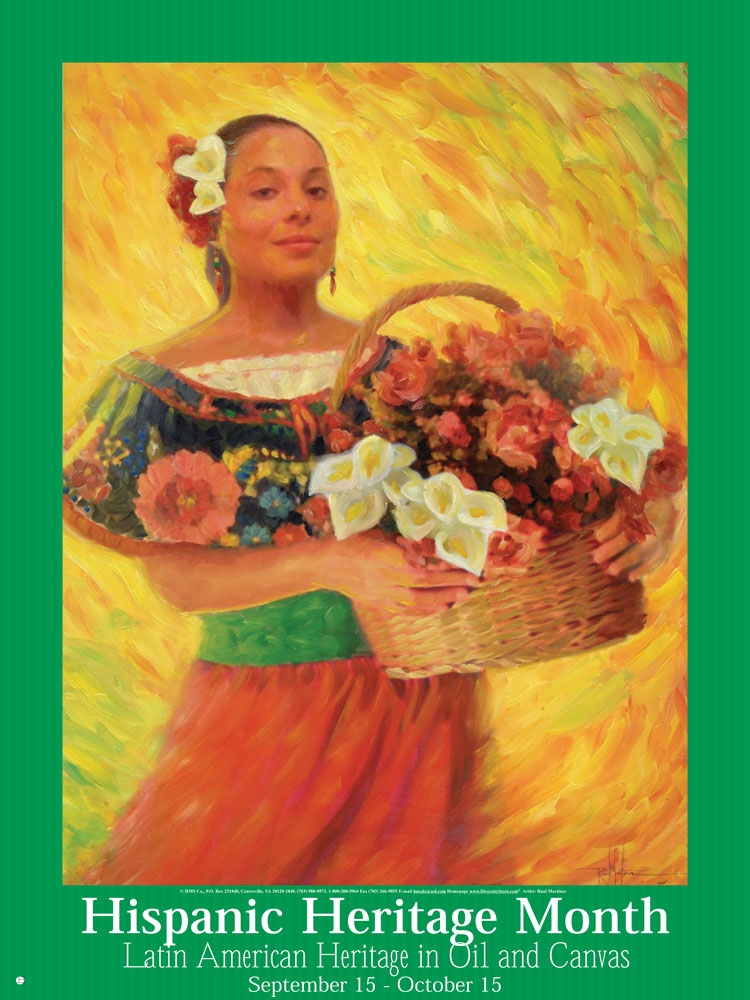 Item# H43 Hispanic Heritage Month Latin American Heritage in Oil & Canvas Poster (GSA)