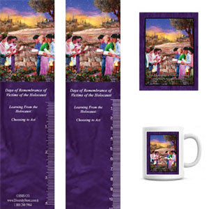 Item# HOL6K HOL6 Holocaust Days of Remembrance Bookmarks, Buttons, Mugs and Magnets ..OM -  DiversityStore.Com®