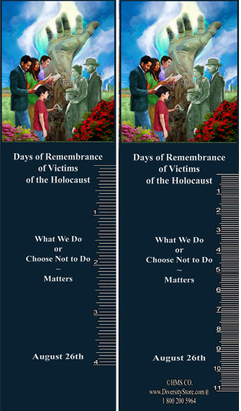Item# HOL8K HOL8 Holocaust Days of Remembrance Bookmarks, Buttons, Mugs and Magnets ..OM -  DiversityStore.Com®