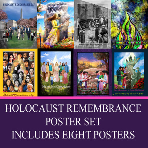 Item# HOLSET Holocaust Remembrance Day Poster Set ..(GSA) -  DiversityStore.Com®