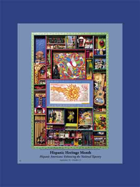 Item# H41 Hispanic Heritage Month Enhancing the National Tapestry Poster (GSA)