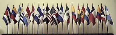 Hispanic Flag Set - 21 Flags on 21 one-hole stands (Not the image on display)