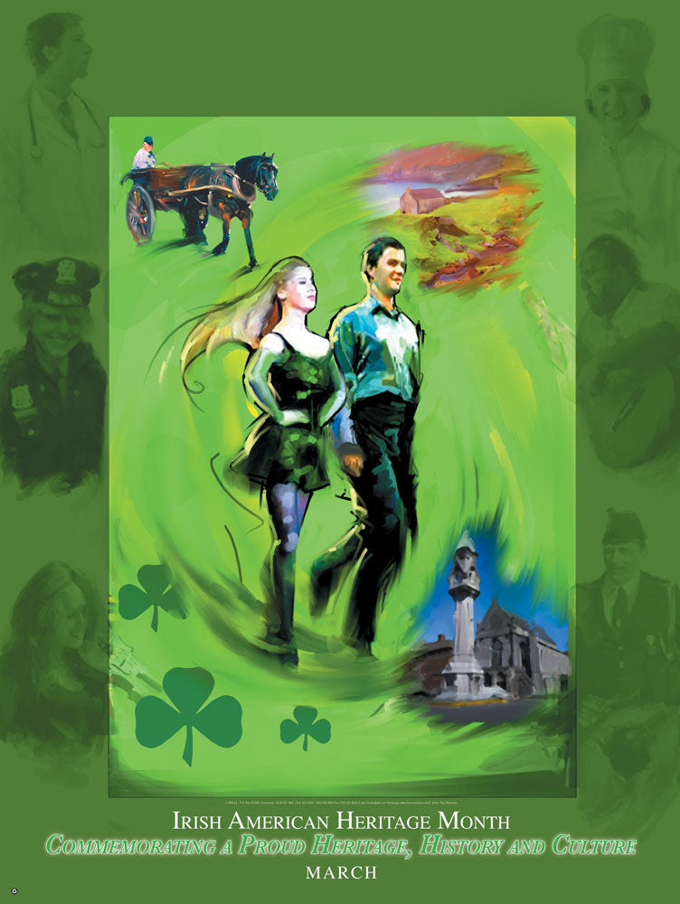 Item# IM2 Poster: National Irish American Heritage Month Commemorating a Proud Heritage.(GSA) -  DiversityStore.Com®