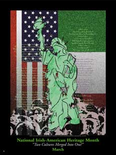 Item# IM Poster: National Irish American Heritage Month.(GSA)