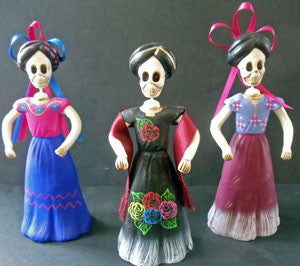 Ceramic Catrina (5 1/2 inch) Assorted colors