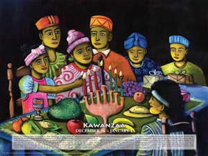 Item# KW Kwanzaa - A Celebration of African Culture and Heritage Poster.(GSA) -  DiversityStore.Com®
