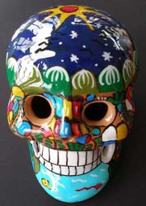 Item# MX8 Dia de los Muertos Skulls - Assorted Colors (Large) -  DiversityStore.Com®