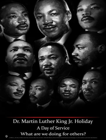 Item# MLK16 Dr. Martin Luther King, Jr. National Holiday - Injustice anywhere (OM)