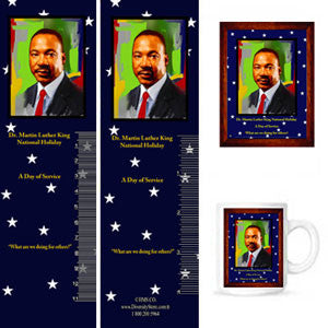 MLK15 Bookmarks, Buttons and Magnets ..OM -  DiversityStore.Com®
