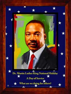 Item# MLK1524x36 Custom Made 24x36 inch Dr. Martin Luther King, Jr. National Holiday - $49.95 - OM -  DiversityStore.Com®
