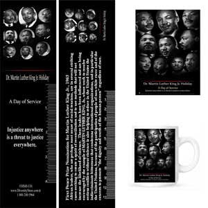 MLK16 Bookmarks, Buttons and Magnets ..OM -  DiversityStore.Com®