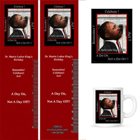 MLK17 Bookmarks, Buttons and Magnets ..OM -  DiversityStore.Com®
