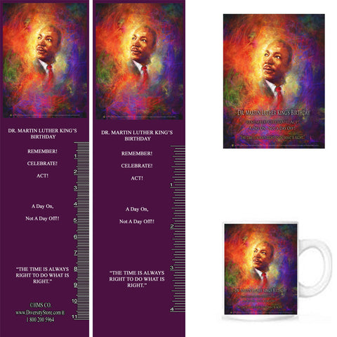 Item: MLK19 Bookmarks, Buttons and Magnets ..OM