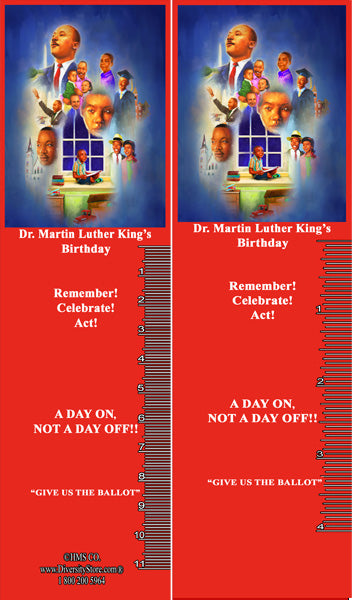 Martin Luther King Jr. Item: MLK20K Bookmarks, Buttons and Magnets ..OM