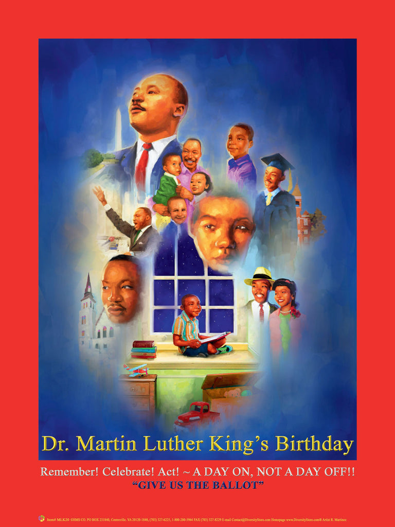 NEW FOR 2020  Item# MLK2024x36 Custom Made MLK20 24x36 -  DiversityStore.Com®