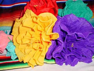 Large Mexican Paper Flowers