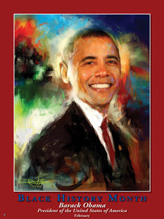 Magnets Buttons & Bookmarks Black History Month Barack Obama, President ..OM -  DiversityStore.Com®