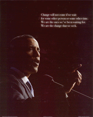 Obama Mini 10 - Podium Speech OM10 Poster (8 inch by 10 inch)