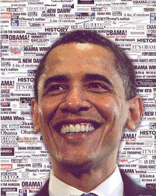 Obama Mini 7 - News Poster (8 inch by 10 inch)