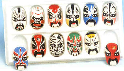 Item# OMP Chinese Opera Mask Pins .. OM