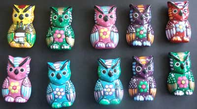 Item# MX38 Ceramic Owl Assorted Colors & Styles .. OM