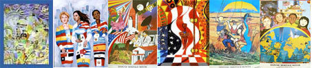 Vintage Hispanic - Six Posters - Set No. 2- (GSA)