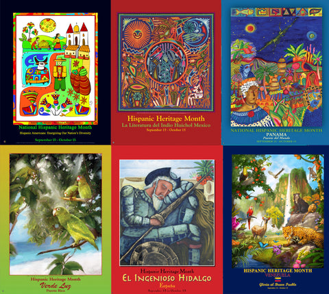 Item# PSC3 Hispanic Country Poster Set C3 (HES, HL, HPA, HPR, HE, HV) (GSA)