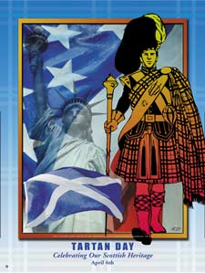 Item: SCT Tartan Day Celebrating Our Scottish Heritage Poster.(GSA)