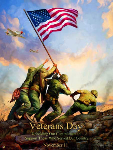 Veterans Day Poster Item: VET12 .(GSA)