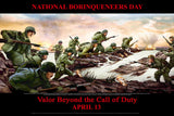 NATIONAL BORINQUENEERS DAY APRIL 13 Item# VET15B24x36 (Custom Made 24x36 Inches)  Valor Beyond the Call of Duty (OM)