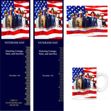 Item: VET18 Veterans Day Magnets & Bookmarks ...OM