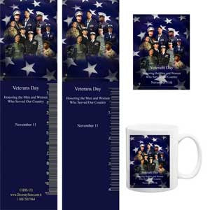 Veterans Day Magnets & Bookmarks VET5...OM