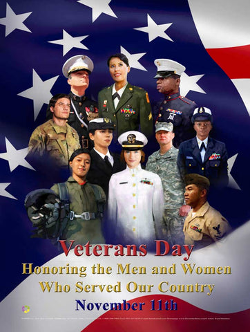 Item# VET5 Veterans Day Honoring the Men and Women Who Served Our Country (GSA) -  DiversityStore.Com®