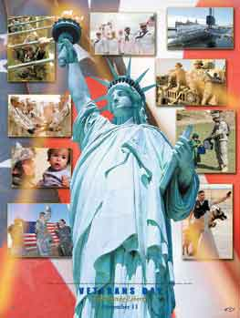 Veterans Day Celebrating Liberty Poster .(GSA)