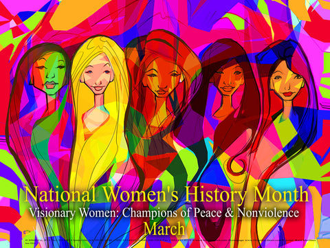 Item# WH1924X36 (Custom Made 24x36 inches) National Women's History Month 2019 ..OM