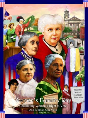 Item# WED12 Women's Equality Day Poster One Woman One Vote  Product: WED12 .(GSA) -  DiversityStore.Com®
