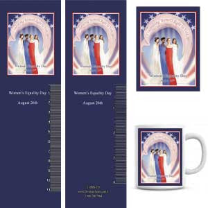 WED15 Women's Equality Day Buttons, Magnets, Mugs & Bookmarks -  DiversityStore.Com®