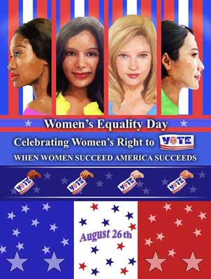 Item# WED16 2016 Women's Equality Day Poster - When Women Succeed America Succeeds - (GSA) -  DiversityStore.Com®
