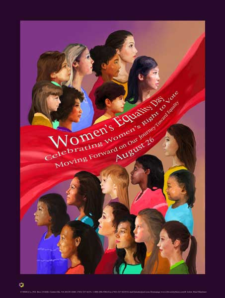 Item# WED17 2017 Women's Equality Day Poster - Moving Forward on Our Journey Toward Equality   (GSA) -  DiversityStore.Com®