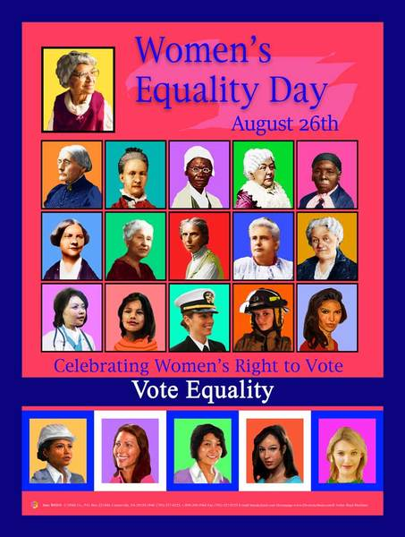 Item# WED18 2018 Women's Equality Day Poster - Vote Equality ... GSA