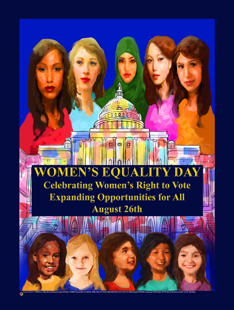 Item# WED19 2019 Women's Equality Day Poster - Expanding Opportunities for All... GSA -  DiversityStore.Com®