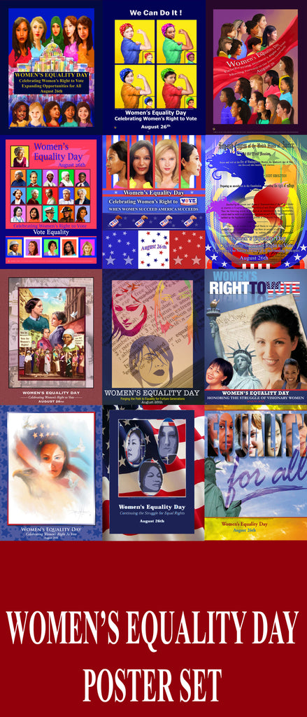 Item# WEDPS Women's Equality Day Poster Poster Set.. GSA -  DiversityStore.Com®