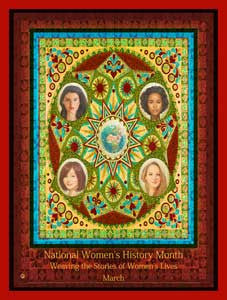 (Custom Made 24x36 inches) National Women's History Month Weaving .