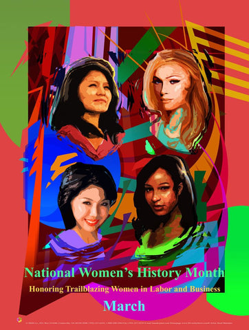 Item# WH17SET National Women's History Month SET 10 Posters & 100 Bookmarks